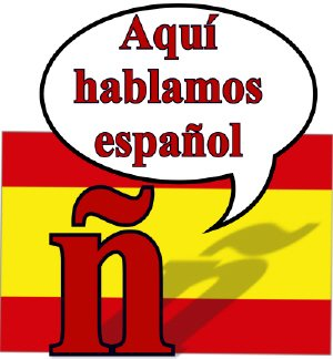 aqui hablamos espanol, spanish flag as background